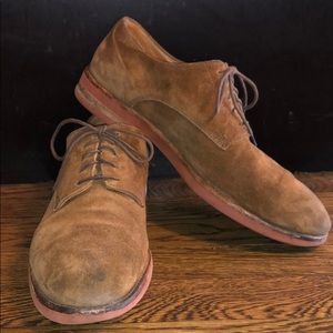 Barneys label suede Oxford shoes